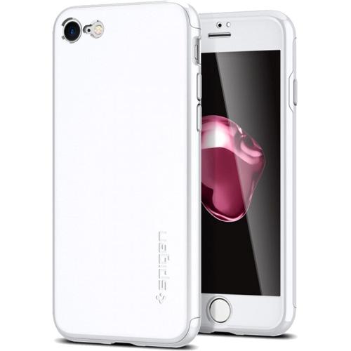 Чехол Spigen Thin Fit 360 для iPhone 7 (Айфон 7) белый (SGP-042CS21097)Чехлы для iPhone 7<br>Ультратонкий и невероятно лёгкий, словно пёрышко, чехол Spigen Thin Fit 360 для iPhone 7.<br><br>Цвет товара: Белый<br>Материал: Поликарбонат