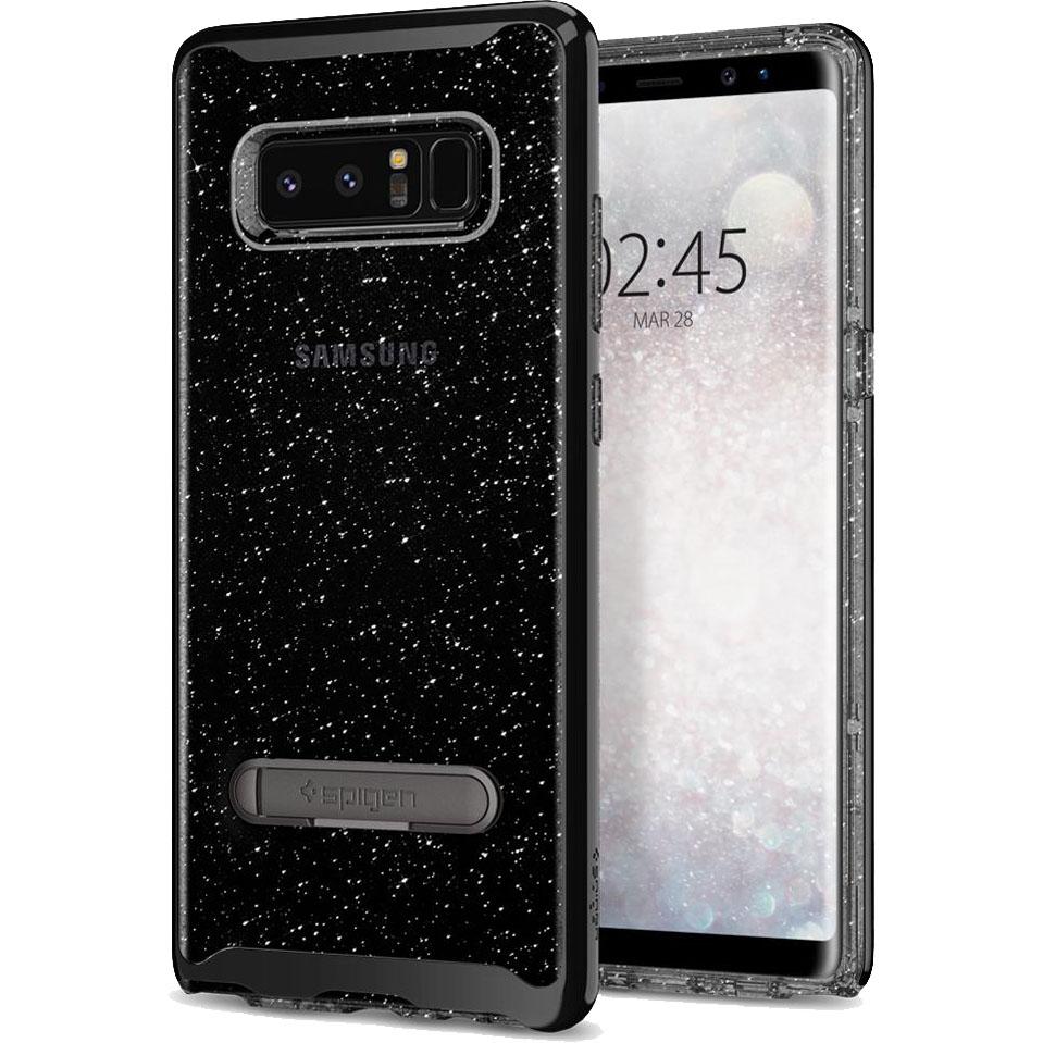 Чехол Spigen Crystal Hybrid Glitter для Samsung Galaxy Note 8 дымчатый кварц (587CS218423)Чехлы для Samsung Galaxy Note<br>Spigen Crystal Hybrid Glitter способен продемонстрировать ваш Samsung Galaxy Note 8 с защитой и блеском, которого он заслуживает.<br><br>Цвет товара: Чёрный<br>Материал: Термопластичный полиуретан, поликарбонат
