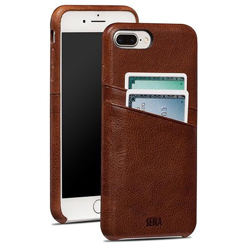 Чехол Sena Snap-On Wallet для iPhone 7 Plus (Айфон 7 Плюс) коричневый