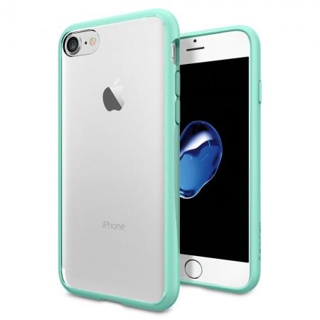 Чехол Spigen Ultra Hybrid для iPhone 7 (Айфон 7) мятный (SGP-042CS20447)Чехлы для iPhone 7<br>Spigen Ultra Hybrid — идеальный чехол для минималистов, которые ценят максимальную функциональность!<br><br>Цвет товара: Мятный<br>Материал: Поликарбонат, полиуретан