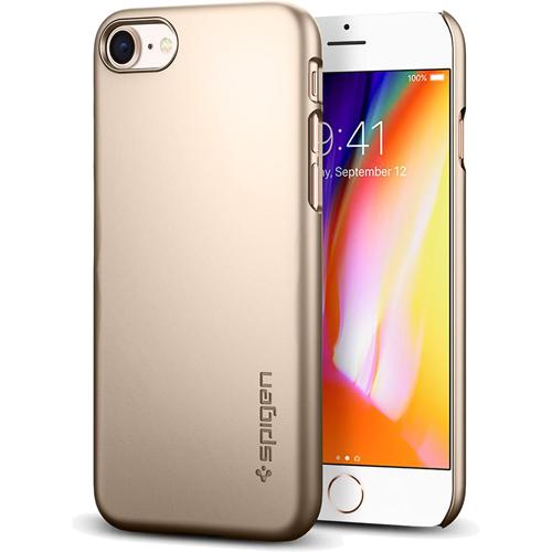 Чехол Spigen Thin Fit для iPhone 8 (Айфон 8) шампань (SGP-054CS22209)Чехлы для iPhone 8<br>Spigen Thin Fit — это чехол с лёгким и свежим дизайном, который создан специально для iPhone 8!<br><br>Цвет товара: Золотой<br>Материал: Поликарбонат