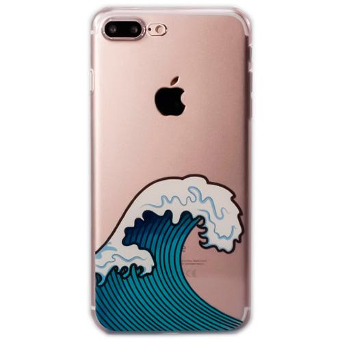 Чехол iPapai «Surf» (Канагава) для iPhone 7 PlusЧехлы для iPhone 7 Plus<br>Стильный и надёжный чехол iPapai с уникальным дизайнерским принтом.<br><br>Цвет товара: Прозрачный<br>Материал: Пластик