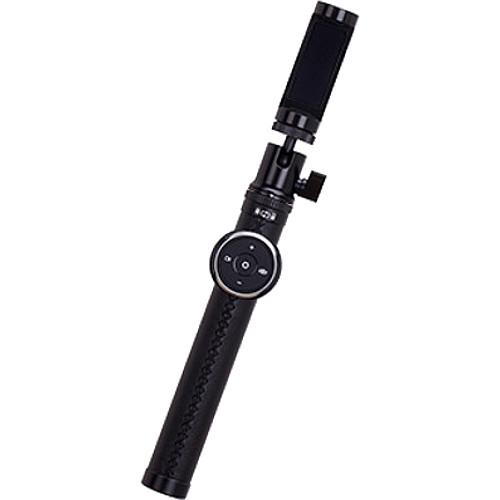 Монопод Momax Selfie Pro (+ трипод) 90 см (KMS4) чёрныйМоноподы<br>Momax Selfie Pro — модный монопод премиум качества.<br><br>Цвет товара: Чёрный<br>Материал: Натуральная кожа, металл, пластик