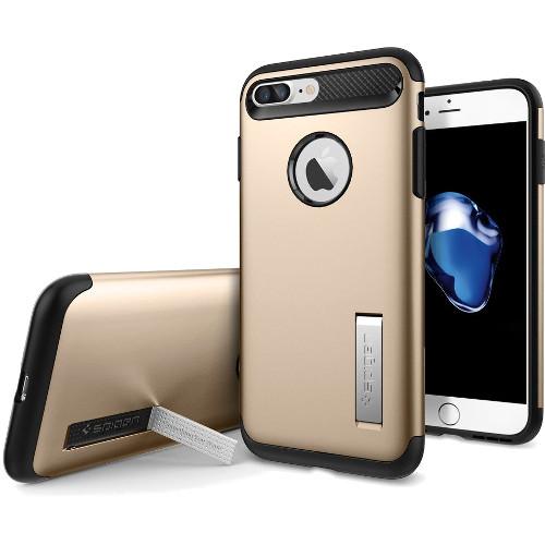 Чехол Spigen Slim Armor для iPhone 7 Plus (Айфон 7 Плюс) золотой (SGP-043CS20310)Чехлы для iPhone 7 Plus<br>Spigen Slim Armor — это тончайшая двухслойная защита для вашего Айфон.<br><br>Цвет: Золотой<br>Материал: Поликарбонат, полиуретан
