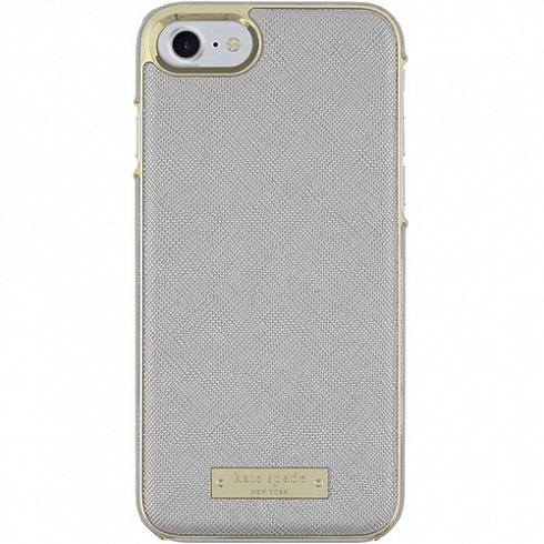 Чехол Kate Spade New York Wrap Case для iPhone 7/8 Saffiano серыйЧехлы для iPhone 7<br>Прочный и изысканный чехол Kate Spade New York — это идеальное дополнение к вашему iPhone!<br><br>Цвет товара: Серый<br>Материал: Сафьяновая кожа, пластик
