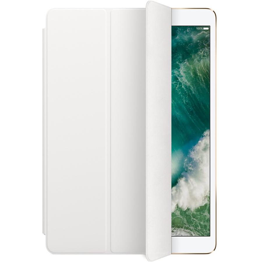 Чехол Apple Smart Cover для iPad Pro 10.5 (White) белыйЧехлы для iPad Pro 10.5<br>Элегантная обложка Smart Cover из высококачественной полиуретановой кожи защищает дисплей iPad Pro.<br><br>Цвет: Белый<br>Материал: Полиуретан