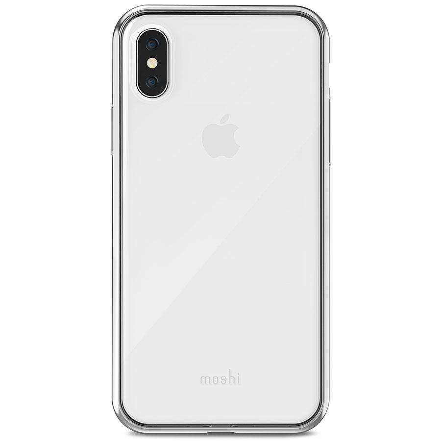 Чехол Moshi Vitros для iPhone X серебристый (Jet Silver)Чехлы для iPhone X<br>Moshi Vitros выполнен в минималистском стиле и ничуть не скрывает дизайн iPhone.<br><br>Цвет товара: Серебристый<br>Материал: Поликарбонат, полиуретан