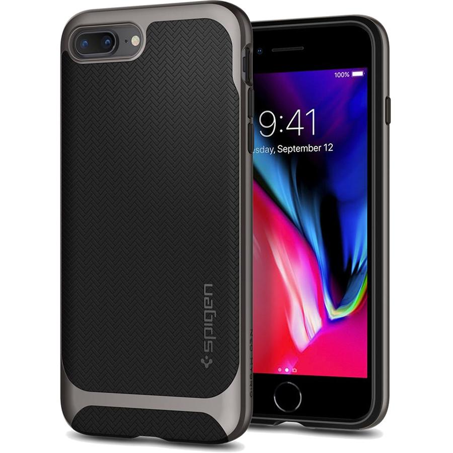 Чехол Spigen Neo Hybrid Herringbone для iPhone 8 Plus / 7 Plus стальной (055CS22227)Чехлы для iPhone 7 Plus<br>Spigen Neo Hybrid Herringbone — стильный и прочный чехол для мощного смартфона Apple iPhone 8 Plus.<br><br>Цвет товара: Серый<br>Материал: Поликарбонат, термопластичный полиуретан