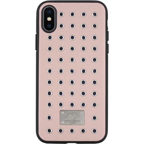 Чехол-накладка Santa Barbara Polo &amp; Racquet Club Maverick Series для iPhone X розовыйЧехлы для iPhone X<br>Сочетание высококачественной кожи и металла делаю чехол поистине роскошным аксессуаром для вашего iPhone X!<br><br>Цвет товара: Розовый<br>Материал: Кожа, пластик, металл