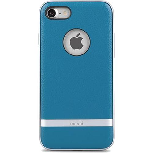 Чехол Moshi Napa для iPhone 7 (Айфон 7) синийЧехлы для iPhone 7<br>Чехол Moshi Napa для iPhone 7 (Айфон 7) синий<br><br>Цвет товара: Синий<br>Материал: Поликарбонат, полиуретановая кожа