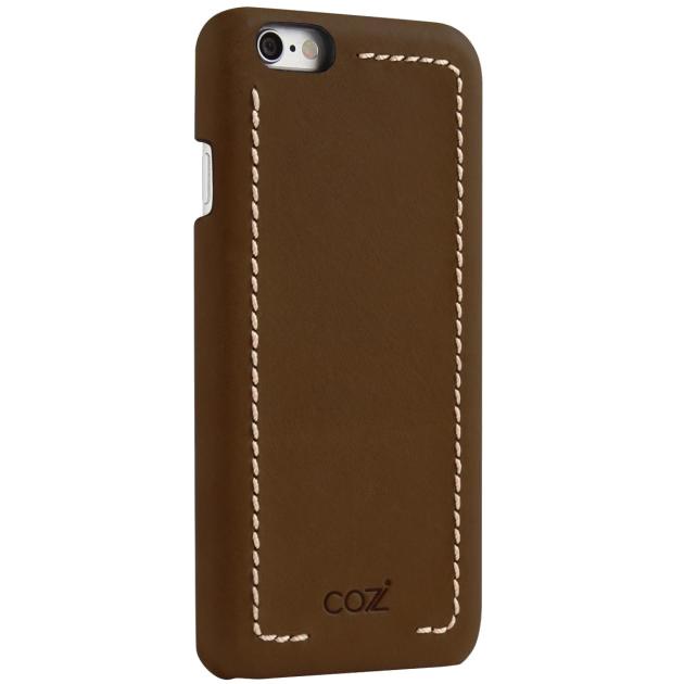 Чехол Cozistyle Leather Wrapped Case для iPhone 6 Plus/6s Plus тёмно-коричневыйЧехлы для iPhone 6/6s Plus<br>Прочные полимеры, высококачественная натуральная кожа, изысканные текстуры и благородные оттенки.<br><br>Цвет товара: Коричневый<br>Материал: Натуральная кожа, текстиль, поликарбонат