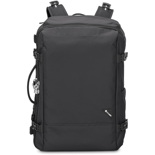 Рюкзак Pacsafe Vibe 40 чёрныйРюкзаки<br>Вместительный и практичный рюкзак Vibe 40 будет вашим надежным спутником в путешествиях.<br><br>Цвет товара: Чёрный<br>Материал: Текстиль, нержавеющая сталь, пластик