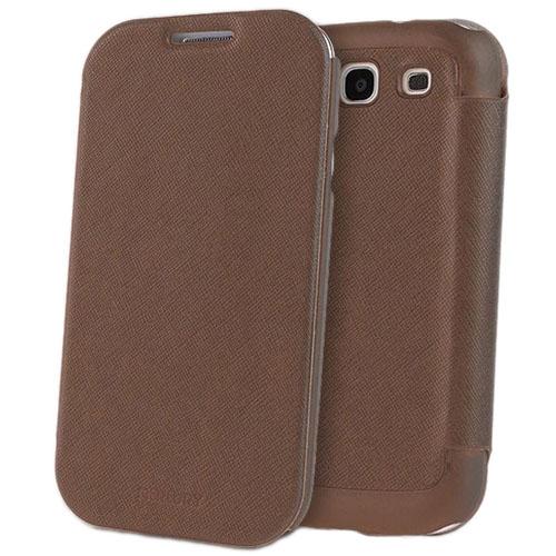 Чехол Mercury Fancy Diary FlipStyle для Samsung Galaxy S3 КоричневыйЧехлы для Samsung Galaxy<br>С Mercury Fancy Diary FlipStyle вашему смартфону не страшны неприятности!<br><br>Цвет товара: Коричневый<br>Материал: Пластик, кожа
