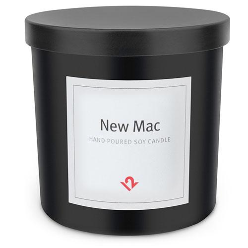 Ароматическая свеча Twelve South New Mac CandleМелочи для жизнииотдыха<br>Свеча Twelve South с запахом iMac<br><br>Цвет товара: Чёрный<br>Цвета корпуса: черный