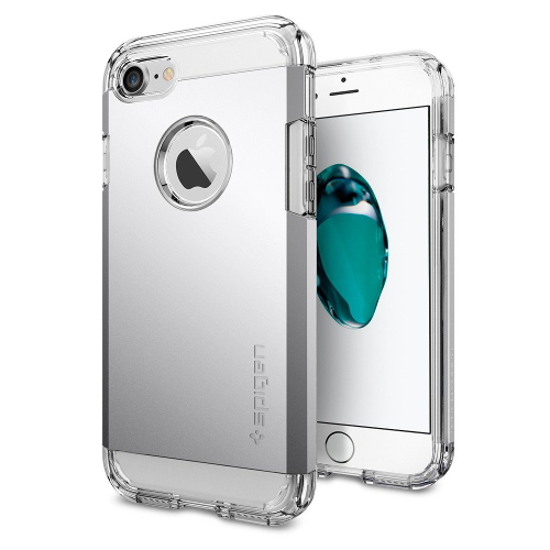 Чехол Spigen Tough Armor для iPhone 7/ iPhone 8 серебристый (SGP-042CS20672)Чехлы для iPhone 7<br>Обеспокоены безопасностью вашего iPhone 7? С бестселлером от Spigen — чехлом Tough Armor — вам больше никогда не придётся об этом волноваться!<br><br>Цвет товара: Серебристый<br>Материал: Поликарбонат, полиуретан