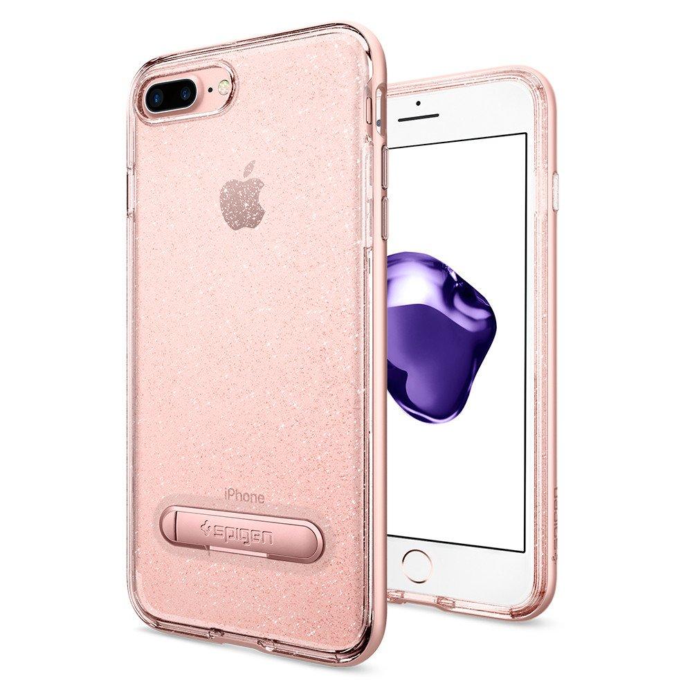 Чехол Spigen Crystal Hybrid Glitter для iPhone 7 Plus (Айфон 7 Plus) розовое золото (SGP-043CS21216)Чехлы для iPhone 7 Plus<br>Ультратонкий и ультралёгкий и кристально-прозрачный чехол Spigen Crystal Hybrid Glitter создан специально для iPhone 7 Plus!<br><br>Цвет товара: Розовое золото<br>Материал: Термопластичный полиуретан, поликарбонат