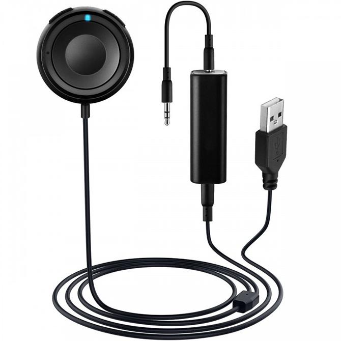 Bluetooth-ресивер Mpow Hands-Free с шумоизолятором (GEBH034AB)Кабели и аксессуары для наушников<br>Mpow станет настоящей палочкой-выручалочкой для автомобилистов, ценящих хороший звук.<br><br>Цвет товара: Чёрный<br>Материал: Металл, пластик