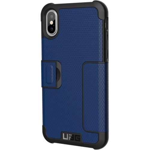Чехол UAG Metropolis Series Case для iPhone X синий CobaltЧехлы для iPhone X<br>Чехол-книжка UAG Metropolis Series Case для iPhone X обеспечивает защиту на все 360°.<br><br>Цвет товара: Синий<br>Материал: Термопластичный полиуретан, поликарбонат
