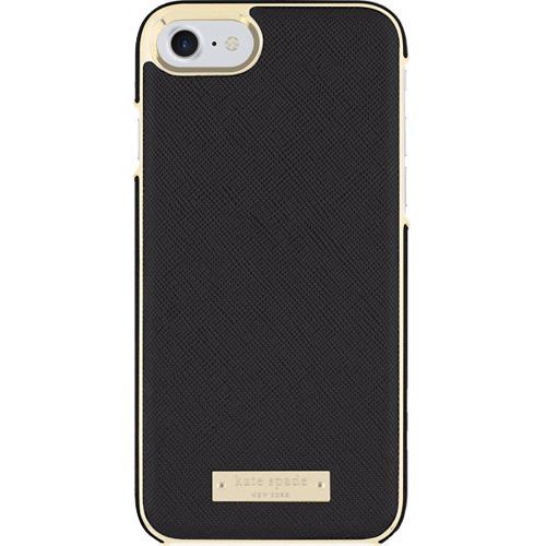 Чехол Kate Spade New York Wrap Case для iPhone 7/8 Saffiano чёрныйЧехлы для iPhone 7<br>Прочный и изысканный чехол Kate Spade New York — это идеальное дополнение к вашему iPhone!<br><br>Цвет товара: Чёрный<br>Материал: Сафьяновая кожа, пластик