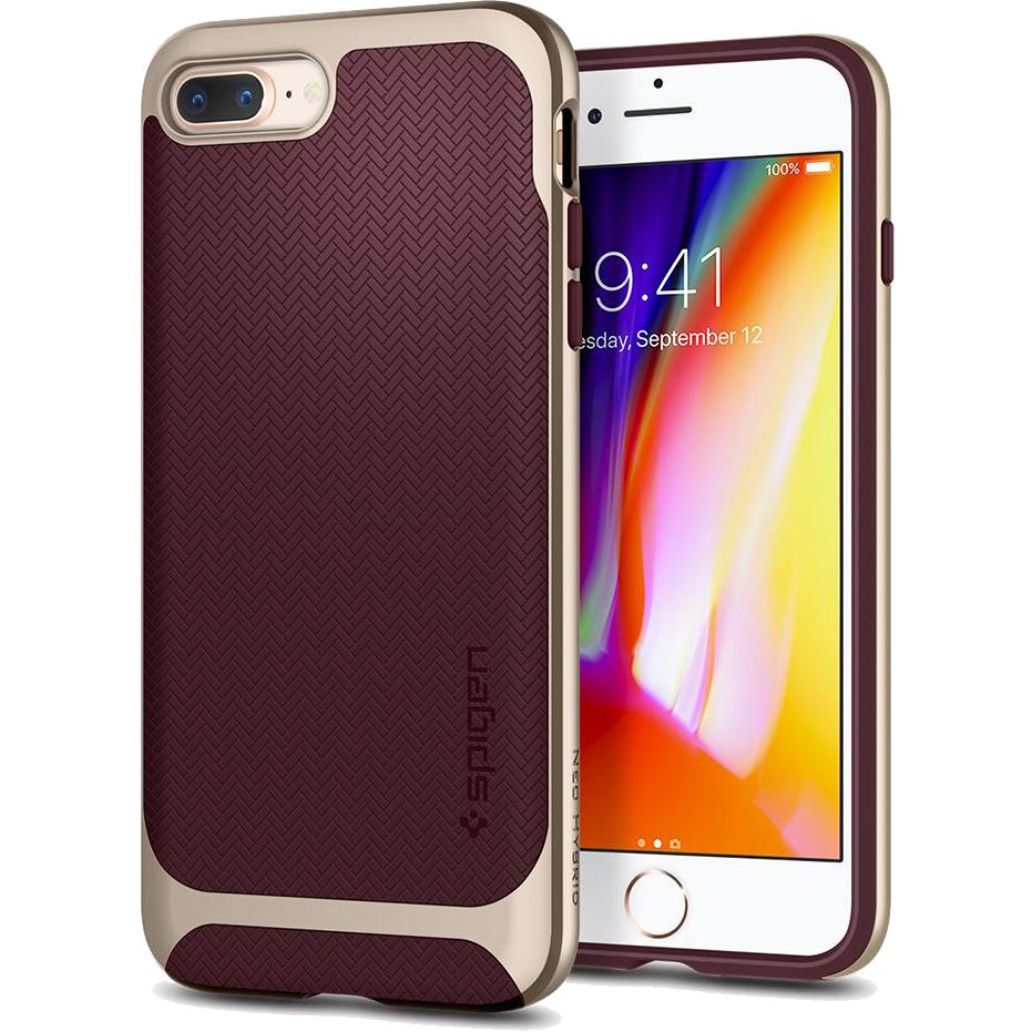 Чехол Spigen Neo Hybrid Herringbone для iPhone 8 Plus / 7 Plus бордовый Burgundy (055CS22228)Чехлы для iPhone 7 Plus<br>Spigen Neo Hybrid Herringbone — стильный и прочный чехол для мощного смартфона Apple iPhone 8 Plus.<br><br>Цвет товара: Красный<br>Материал: Поликарбонат, термопластичный полиуретан
