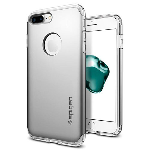 Чехол Spigen Hybrid Armor для iPhone 7 Plus (Айфон 7 Плюс) серебристый (SGP-043CS20698)Чехлы для iPhone 7/7 Plus<br>Чехол Spigen для iPhone 7 Plus Neo Hybrid Armor серебристый (043CS20698)<br><br>Цвет товара: Серебристый<br>Материал: Поликарбонат, полиуретан