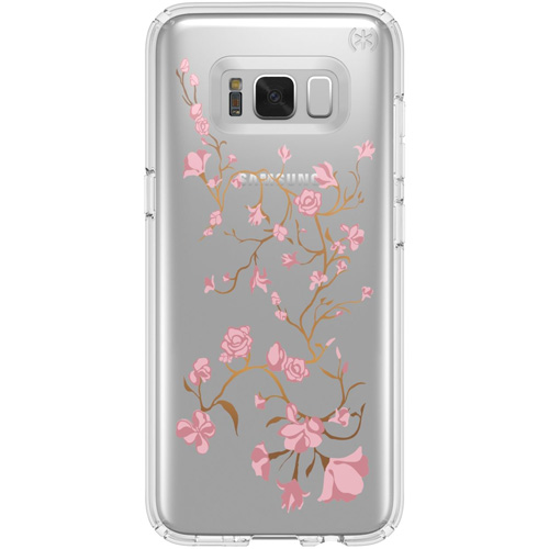Чехол Speck Presidio Clear + Print Golden Blossoms Pink для Samsung Galaxy S8