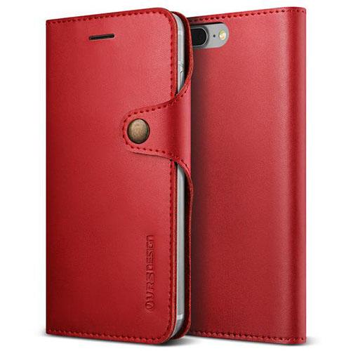 Чехол Verus Native Diary для iPhone 7 Plus (Айфон 7 Плюс) красный (VRIP7P-NTDRD)Чехлы для iPhone 7 Plus<br>Чехол-книжка Verus для iPhone 7 Plus Native Diary, винный (904682)<br><br>Цвет товара: Красный<br>Материал: Поликарбонат, полиуретан