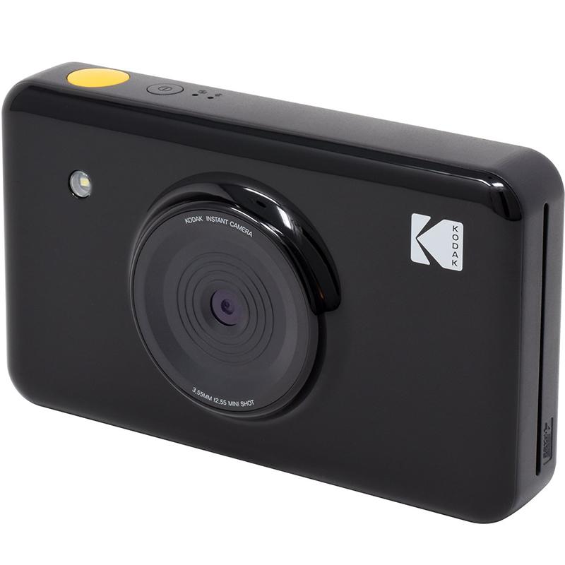 Фотоаппарат моментальной печати Kodak Mini Shot чёрныйВидеокамеры, очки, экшн-камеры<br>Запечатлите все самые яркие моменты своей жизни вместе с Kodak Mini Shot!<br><br>Цвет: Чёрный<br>Материал: Пластик