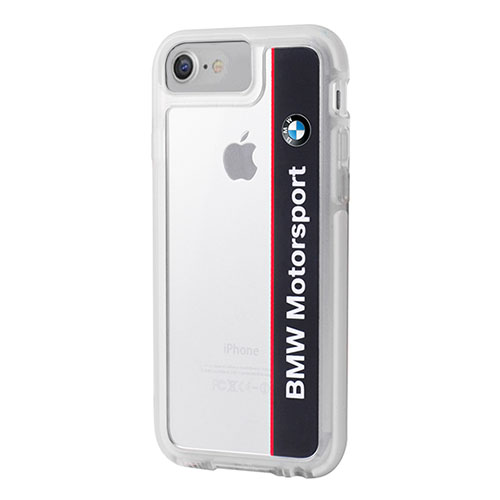 Чехол BMW Motorsport Shockproof Hard PC для iPhone 7 (Айфон 7) белый/синий