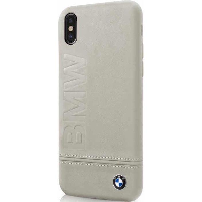 Чехол BMW Signature Logo imprint Hard для iPhone X бежевый TaupeЧехлы для iPhone X<br><br><br>Цвет товара: Бежевый<br>Материал: Натуральная кожа, микрофибра, поликарбонат
