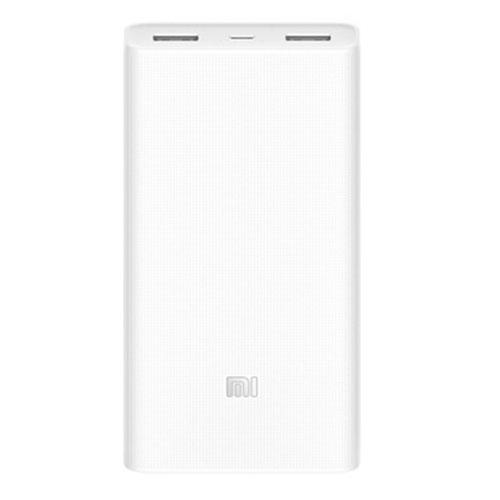 Дополнительный (внешний) аккумулятор Xiaomi Mi Power Bank 2 20000 мАч белыйВнешние аккумуляторы<br>Xiaomi Mi Power Bank 2 сможет стать Вашим постоянным спутником.<br><br>Цвет товара: Белый<br>Материал: Пластик