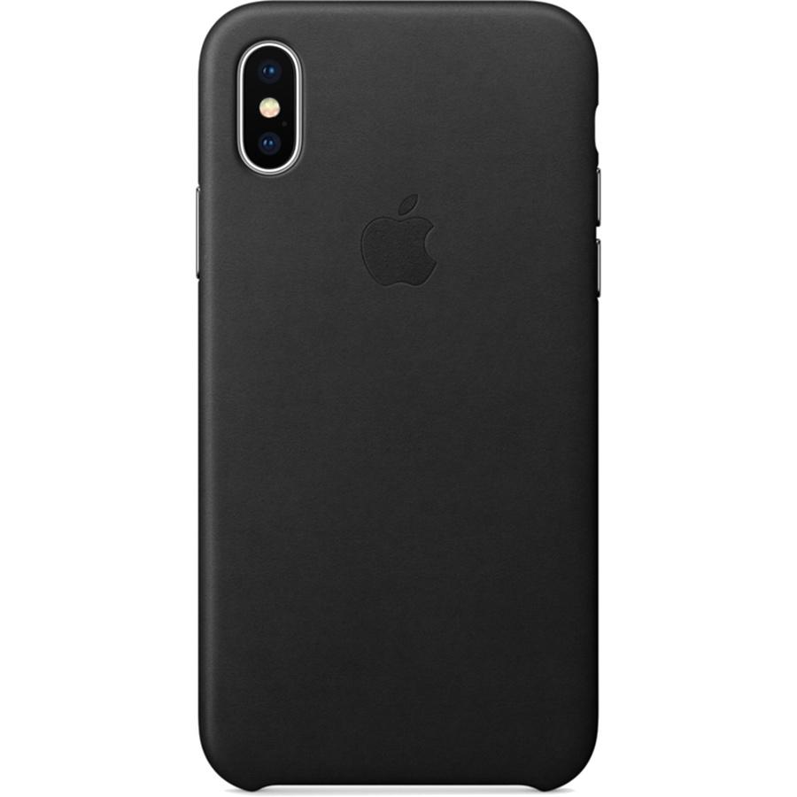 Кожаный чехол Apple Leather Case для iPhone X чёрныйЧехлы для iPhone X<br>Кожаный чехол от Apple — отличное дополнение к вашему iPhone X.<br><br>Цвет товара: Чёрный<br>Материал: Натуральная кожа