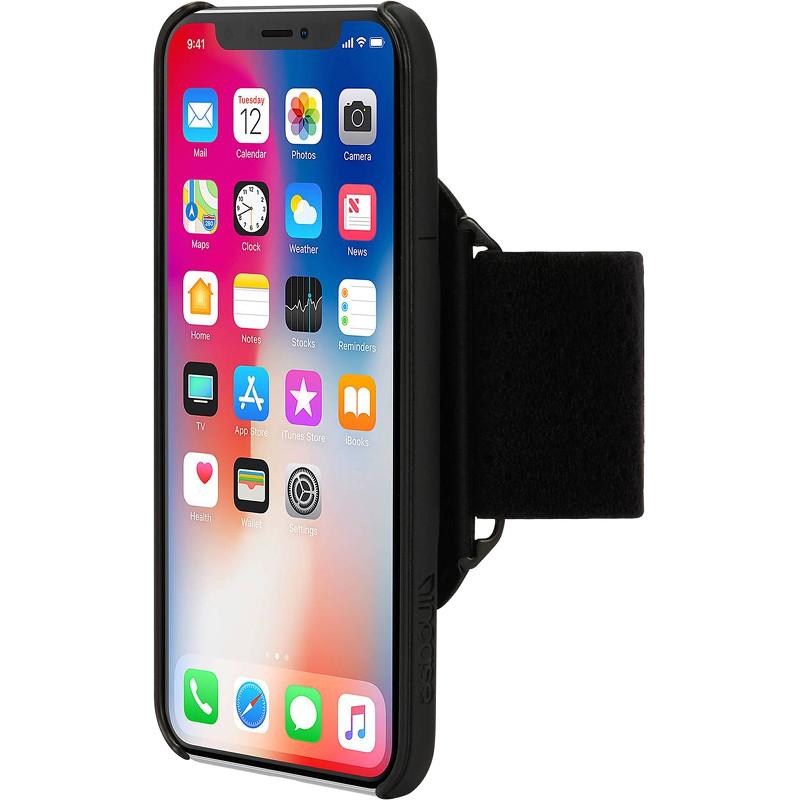 Чехол Incase Active Armband Pro для iPhone X чёрный (INPH190384-BLK)Чехлы для iPhone X<br>Чехлы из серии Active разрабатывались для тех, кто ведет активный образ жизни и занимается спортом.<br><br>Цвет товара: Чёрный<br>Материал: Пластик, 300D полиэстер, полиуретан