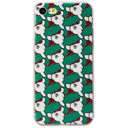 Чехол iPapai «Surf» (Шака) для iPhone 7Чехлы для iPhone 7<br>Стильный и надёжный чехол iPapai с уникальным дизайнерским принтом.<br><br>Цвет товара: Разноцветный<br>Материал: Пластик