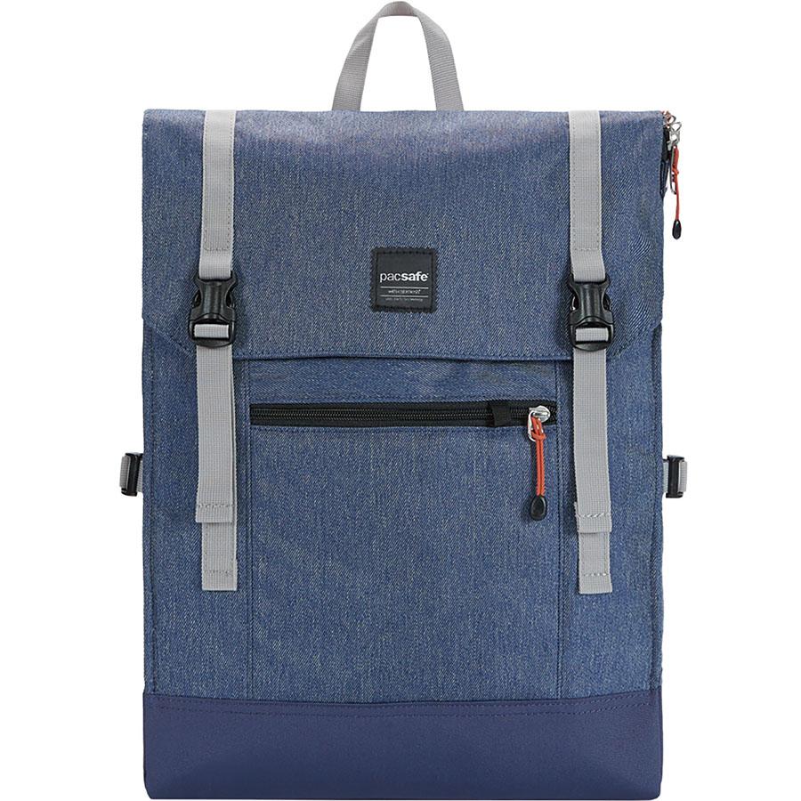 Рюкзак PacSafe Slingsafe LX450 (Denim) синийРюкзаки<br>Удобный и надёжный рюкзак Pacsafe Slingsafe LX450 отлично подходит для городских прогулок, и легко вместит самое необходимое!<br><br>Цвет: Синий<br>Материал: Текстиль, нержавеющая сталь, пластик