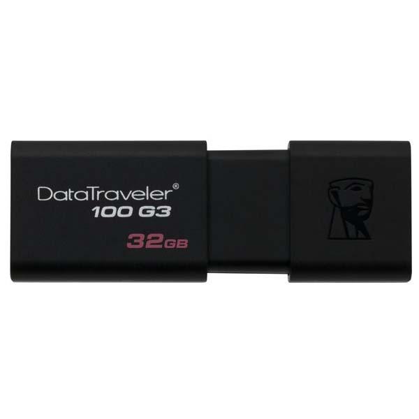 Флешка Kingston DataTraveler DT100G3 USB 3.0 32 ГбФлешки<br>Kingston DataTraveler DT100G3 гарантирует быструю работу с данными!<br><br>Цвет товара: Чёрный<br>Материал: Пластик<br>Модификация: 32 Гб