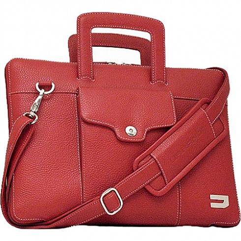 Сумка-чехол Urbano Compact Brief для Macbook Pro 13 Retina краснаяСумки для ноутбуков<br>Urbano Compact Brief - роскошная и функциональная сумка для MacBook.<br><br>Цвет товара: Красный<br>Материал: Кожа, текстиль, металл