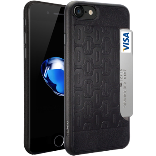 Чехол Ozaki O!coat 0.3+Pocket для iPhone 7 (Айфон 7) чёрный