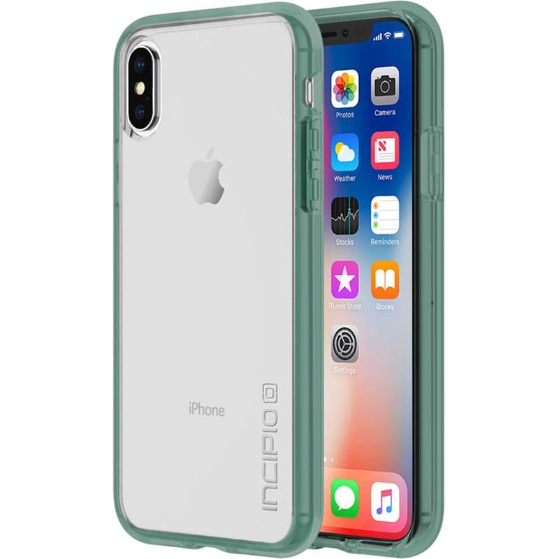 Чехол Incipio Octane Pure для iPhone X ментоловыйЧехлы для iPhone X<br>Двухслойный чехол состоит из поликарбонатной, жёсткой накладки Plextonium™ и гибкого, абсорбирующего бампера Flex2O™.<br><br>Цвет товара: Мятный<br>Материал: Поликарбонат, термопластичный полиуретан