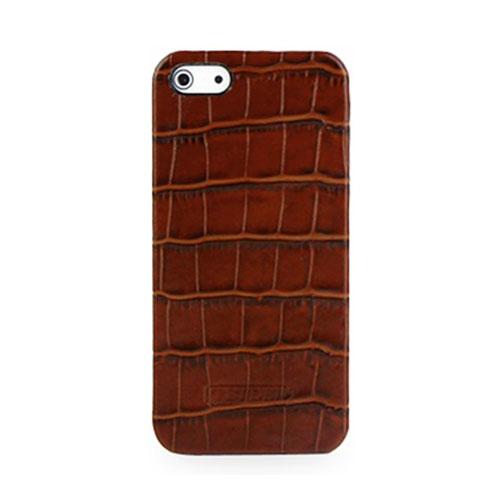 Чехол TETDED Caen Wild Croc для iPhone 5/5S/SE коричневыйЧехлы для iPhone 5s/SE<br>Надев этот чехол однажды, вы на захотите его снимать!<br><br>Цвет товара: Коричневый<br>Материал: Натуральная кожа, пластик