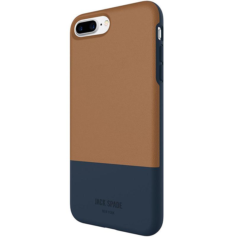 Jack Spade Credit Card Case для iPhone 7 Plus коричневый/синий