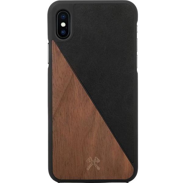 Чехол Woodcessories EcoSplit для iPhone X кожа + грецкий орехЧехлы для iPhone X<br>Woodcessories EcoSplit для iPhone X — невероятно красивый и удобный чехол для вашего смартфона!<br><br>Цвет: Коричневый<br>Материал: Дерево, пластик, веган-кожа