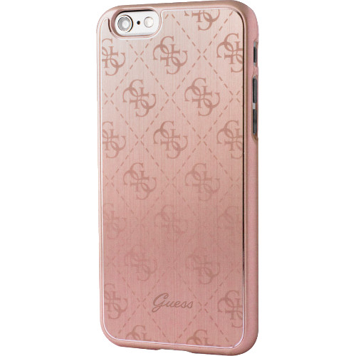Чехол Guess 4G Aluminium Plate Hard для iPhone 7 (Айфон 7) розовое золотоЧехлы для iPhone 7<br>Чехол Guess для iPhone 7 4G Aluminium plate Hard Rose Gold<br><br>Цвет товара: Розовое золото<br>Материал: Поликарбонат, алюминий