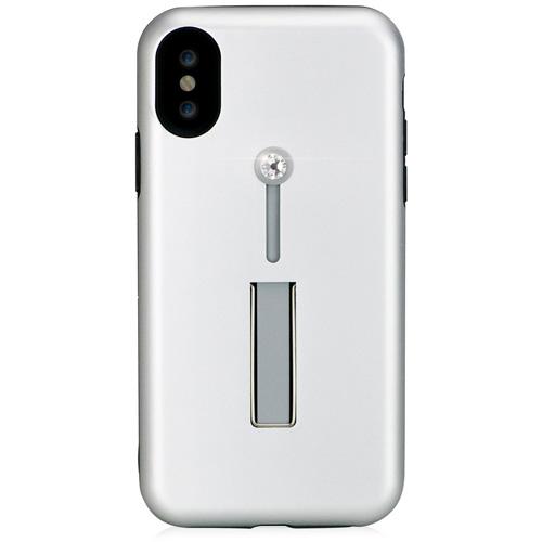 Чехол Bling My Things SelfieLOOP Collection для iPhone X Silver/CrystalЧехлы для iPhone X<br>Экстравагантный чехол с кристаллами Swarovski и удобной подставкой станет для вас безупречным аксессуаром, с которым вы сделаете мир еще ярче!<br><br>Цвет товара: Серебристый<br>Материал: Кристаллы Swarovski, термопластичный полиуретан, поликарбонат