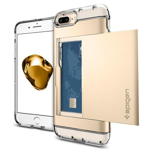Чехол Spigen Crystal Wallet для iPhone 7 Plus (Айфон 7 Плюс) шампань (SGP-043CS20988)Чехлы для iPhone 7 Plus<br>Crystal Wallet надёжно защитит смартфон от различных повреждений.<br><br>Цвет товара: Золотой<br>Материал: Поликарбонат, термопластичный полиуретан (ТПУ)