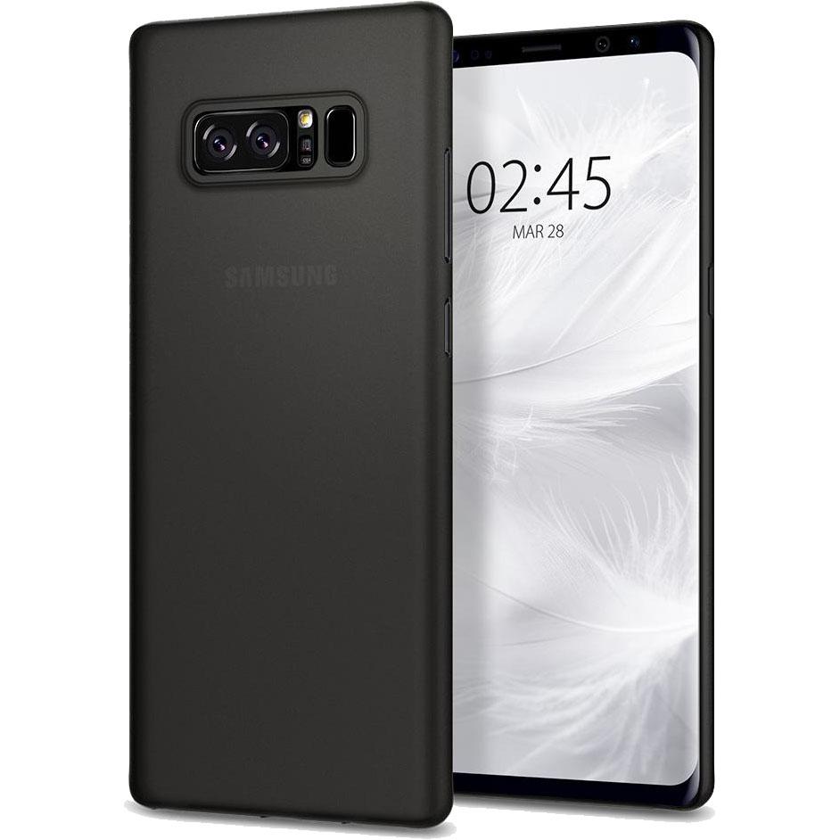 Чехол Spigen Case Air Skin для Samsung Galaxy Note 8 чёрный (587CS22049)Чехлы для Samsung Galaxy Note<br>Spigen Case Air Skin — дань минимализму! Тончайшая накладка с воздушно-лёгким дизайном будет оберегать корпус вашего Samsung Galaxy Note 8 от царапин и потёр...<br><br>Цвет товара: Чёрный<br>Материал: Полипропилен