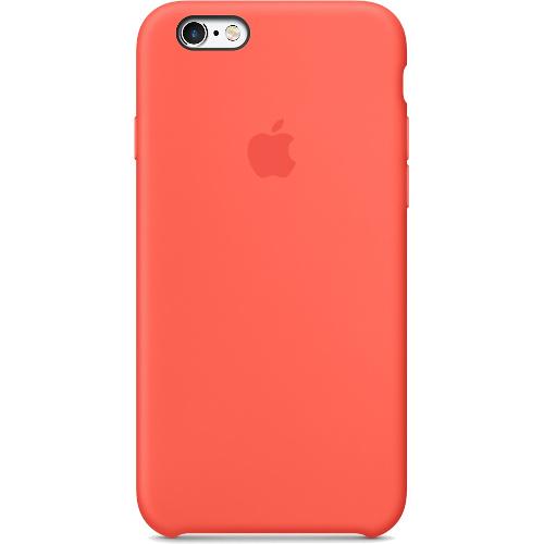 Силиконовый чехол Apple Case для iPhone 6/6s Plus (Айфон 6/6s Plus) абрикосовый