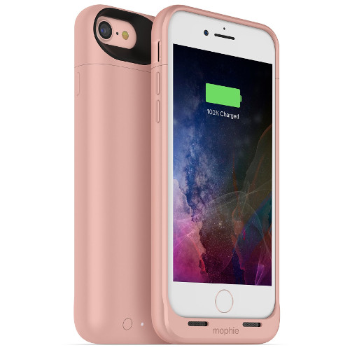 Чехол-аккумулятор Mophie Juice Pack Air на 2525 мАч для iPhone 7 розовыйЧехлы для iPhone 7/7 Plus<br>Mophie Juice Pack Air — это идеальный чехол - тонкий и легкий, он обеспечит ваш новенький iPhone 7 100% защитой и энергией.<br><br>Цвет товара: Розовый<br>Материал: Поликарбонат, резина