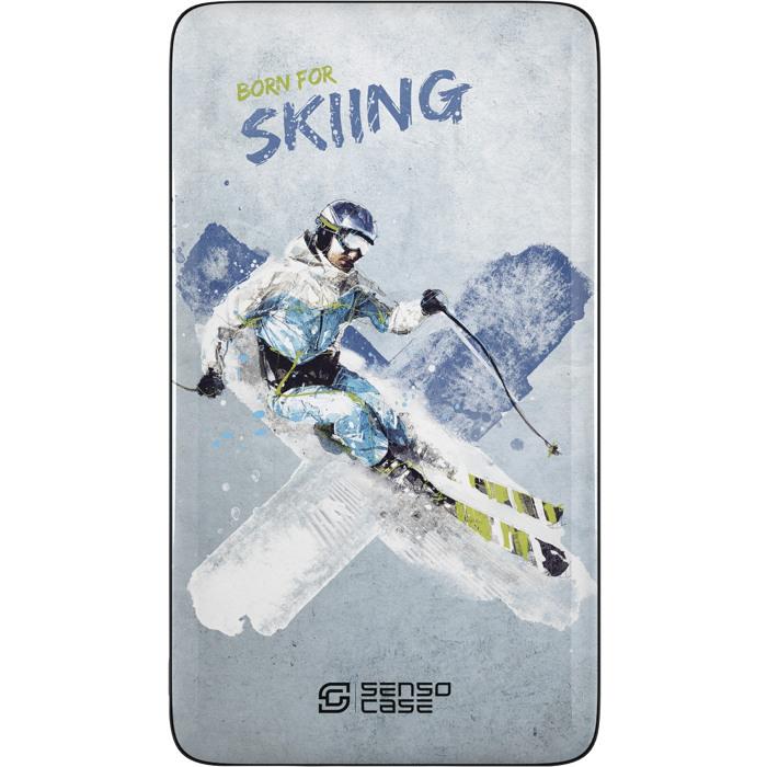 Внешний аккумулятор Sensocase Share Your Passion (10000 мАч) Лыжный спортДополнительные и внешние аккумуляторы<br>Расскажите о своем увлечении всему миру!<br><br>Цвет товара: Разноцветный<br>Материал: Пластик, силикон