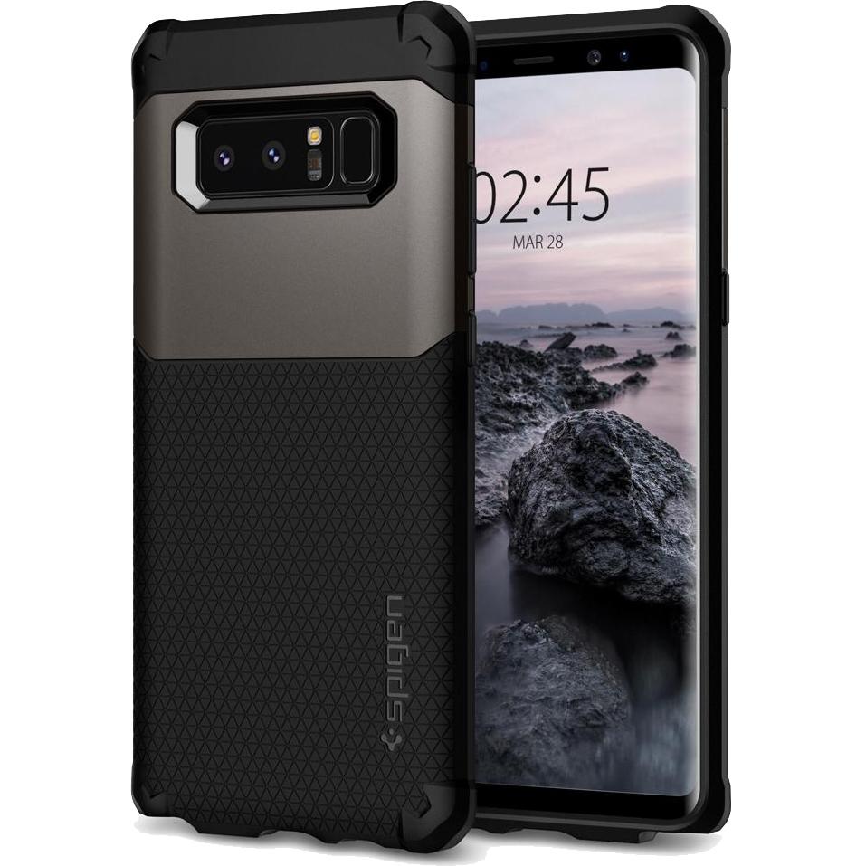 Чехол Spigen Case Hybrid Armor для Samsung Galaxy Note 8 стальной (587CS22076)Чехлы для Samsung Galaxy Note<br>Испытайте непревзойденную защиту чехла Hybrid Armor от Spigen для Samsung Galaxy Note 8.<br><br>Цвет товара: Серый<br>Материал: Поликарбонат, термопластичный полиуретан